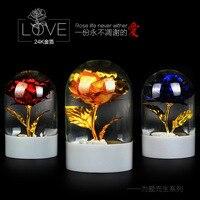 1 шт. 24 K золотые украшения хрустальный шар украшения на день матери, чтобы отправить свою подругу, чтобы жениться на подарок на день рождения