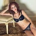 Alegria Alice 2017 A B C D Plus Size conjunto de sutiã Transparente Sexy Lace Bra & Sets breve underwear Rendas definir Mulheres íntimos bralette conjunto