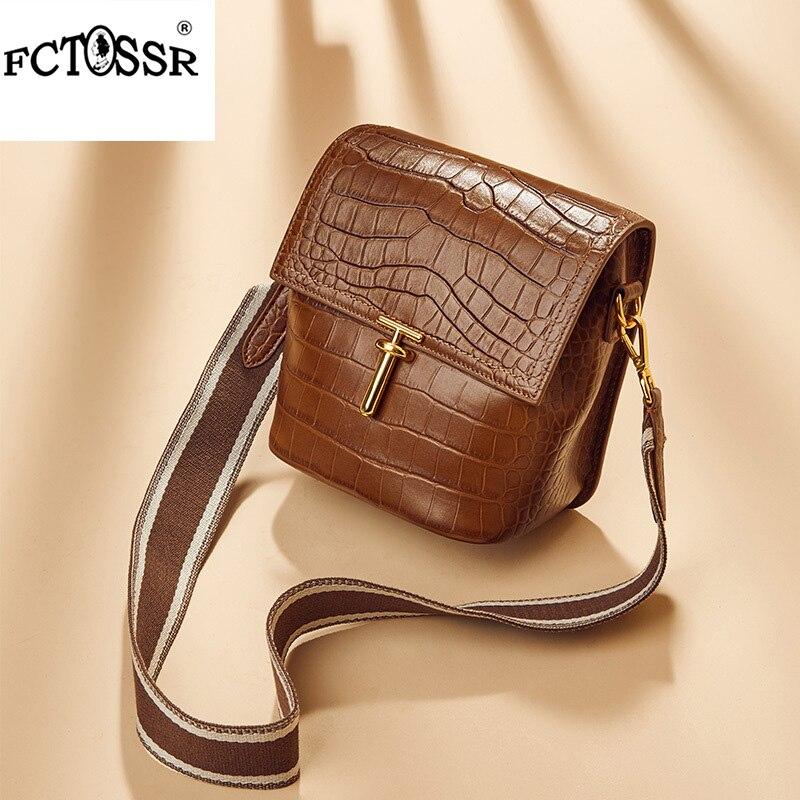 d15a7100d3f1 New Crocodile pattern women crossbody bag chain shoulder strap fashion  female handbag genuine leather small lady shoulder bag