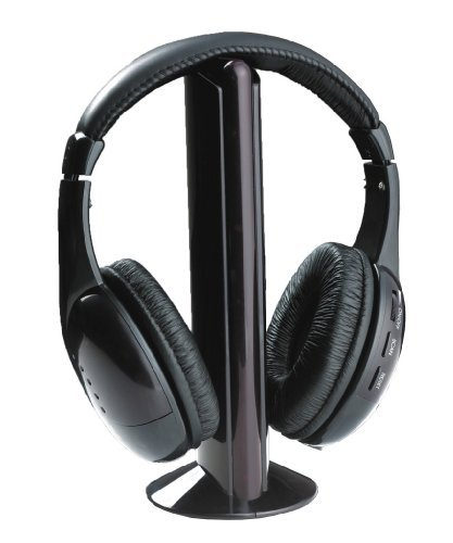 EastVita stereo Wireless Headset Headphones with Microphone FM Radio for MP3 PC TV Audio Phones