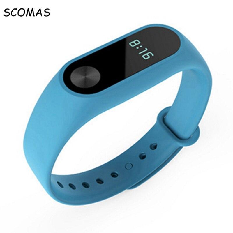 SCOMAS Silicone Bracelet Strap For Xiaomi Band 2 Smart Wristband Watch