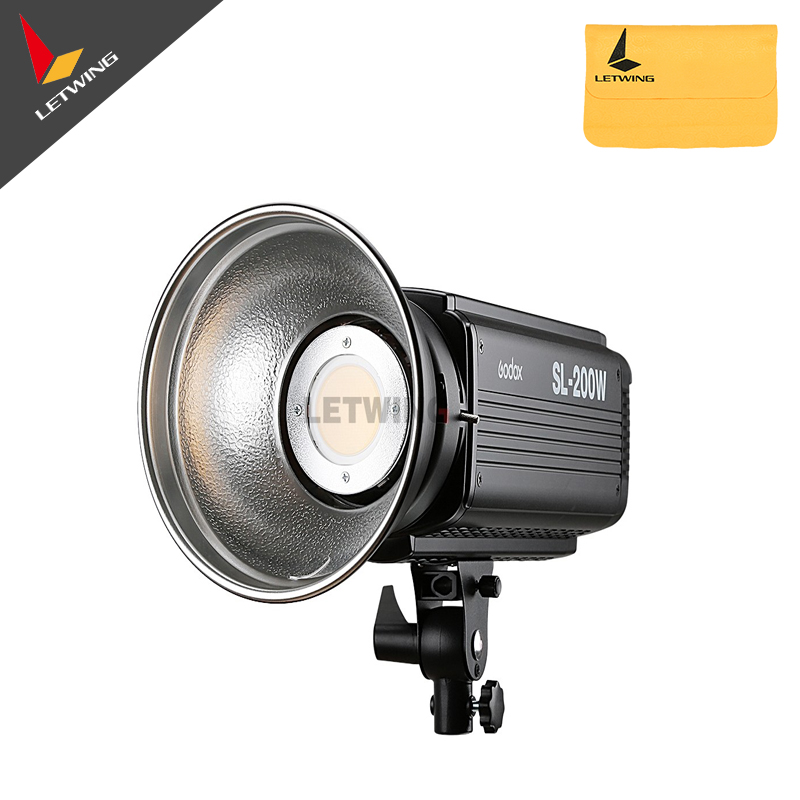 Godox SL-200W SL-200Y 200Ws 5600K LED Video Light Studio Continuous Lamp for Camera DV Camcorder godox led 308y 308 leds professional led video 3300k light with remote control for canon nikon camera dv camcorder