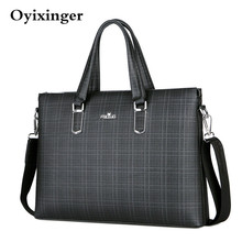 New Men Laptop Messenger Bag Mens Leather Briefcase Shoulder Office Bags For File Work Bag Luxury Handbags For Asus Acer Dell Hp стоимость