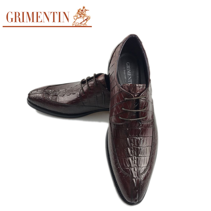 GRIMENTIN High Fashion Men Shoes Luxury Brand Genuine Leather Dress Wedding Shoes Basic Flats grimentin fashion 2016 high top braid men casual shoes genuine leather designer luxury brand men shoe flats for leisure business