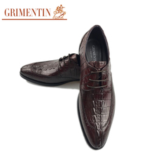 GRIMENTIN High Fashion Men Shoes Luxury Brand Genuine Leather Dress Wedding Shoes Basic Flats