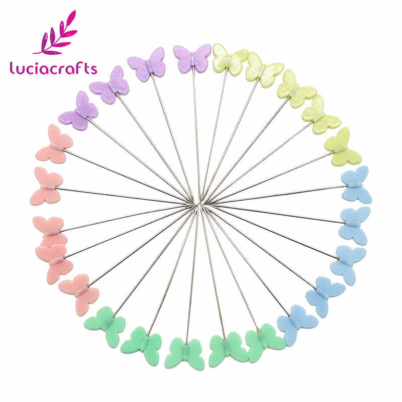 Lucia crafts  0.65*54mm head Kintted Locating Pins Patchwork Sewing Pins Positioning Needle Sewing Accessories J0103