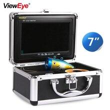 ViewEye 7 polegada 1000TVL Inventor Dos Peixes Câmera Subaquática À Prova D Água Debaixo d água Câmera 12 PCS Infravermelho Lâmpada de Pesca No Gelo Para A Pesca