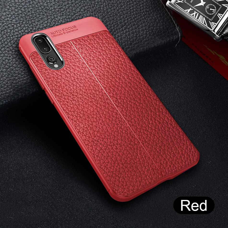 Luxury Leather PU Soft Case On The For Huawei P30 Pro P20 Lite Full Shockproof Cover For Huawei P30 P20 Silicone TPU Bumper Case