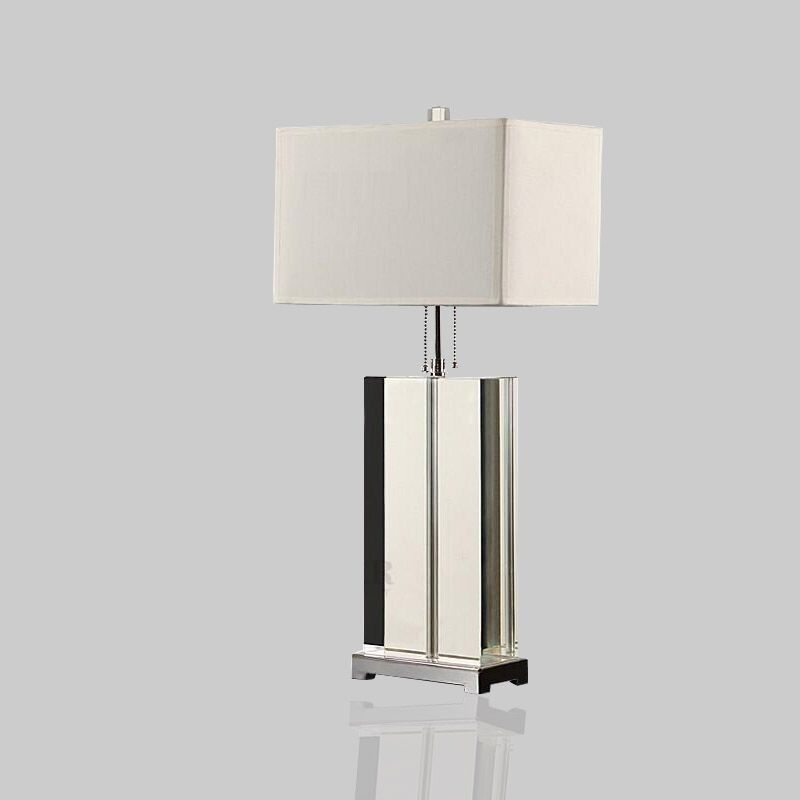 Luxury Modern Table Lamp Crystal Table Lamp Fabric Lampshade Living Room Abajur Table lamp For Bedroom Lamparas De Mesa modern led table lamp lustre geometric diamonds table lamps for bedroom bedside lampshade abajur lampara de mesa art luminaria