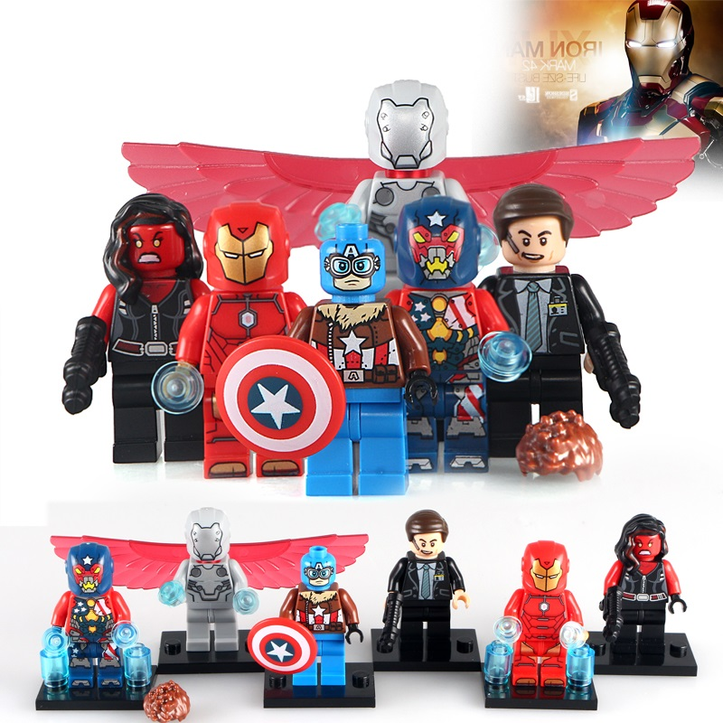 Toys & Hobbies Blocks Realistic 6pcs/lot Pg8043 Super Heroes Captain American Super-adaptoid Spider Boy Red She-hulk Hammer Coulson Iron Man Blocks Toys Comfortable And Easy To Wear