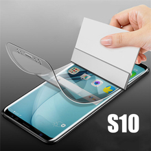 For Samsung Galaxy S10 S10Lite  S10Plus screen Protector Film on the for samsung S 10 lite Plus 3D Soft Not Tempered Glass