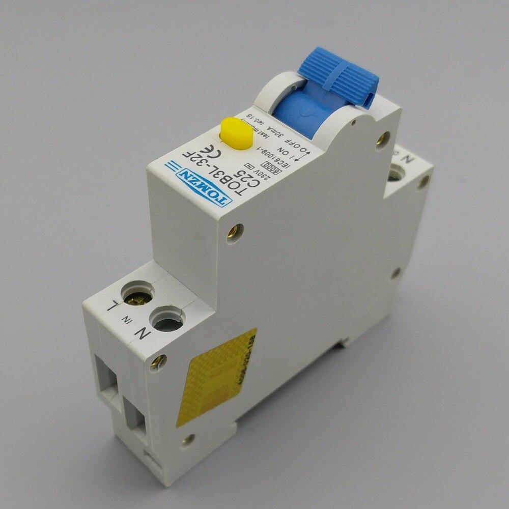 Good 18 MM RCBO 25A 1 P + N 6KA Fehlerstromschutzschalter Differential  Automatische Schutzschalter Mit überstromschutz Und Leckage Schutz In 18 MM  RCBO 25A 1 P + ...