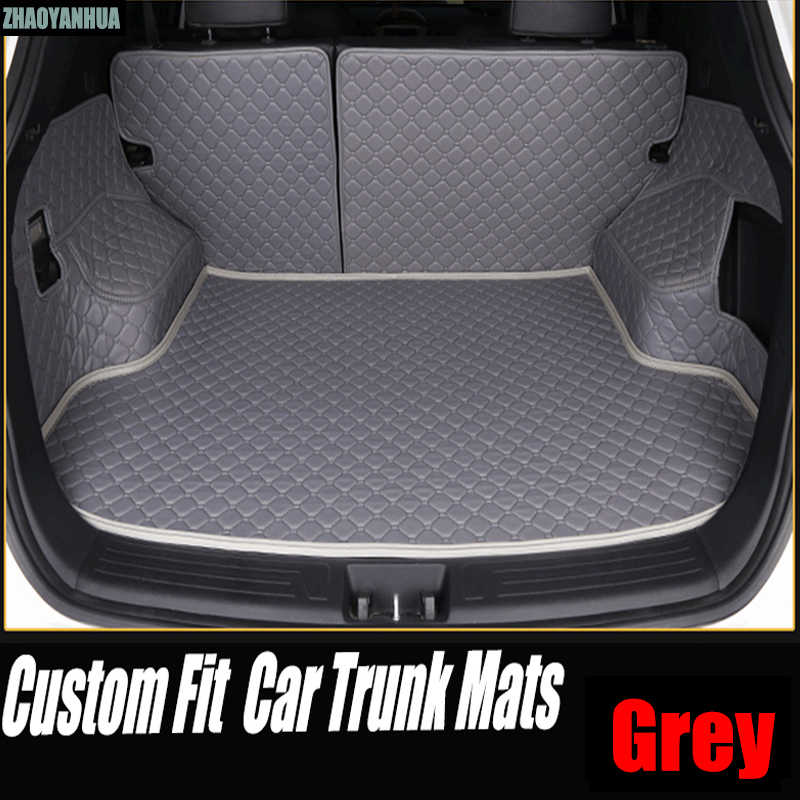 """ZHAOYANHUA Car trunk mats made for Toyota Land Cruiser 200 Prado 150 120 Highlander FJ Crusier case car-styling carpet liners ("