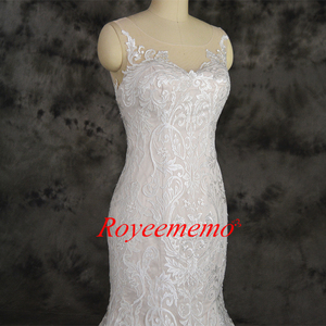 Image 4 - champagne and ivory special lace design wedding dress classic mermaid style wedding gown custom made factory wholesale price