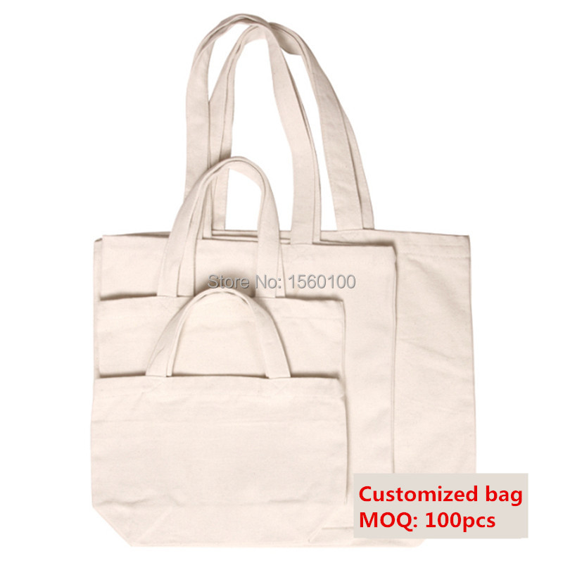 Customized Shopping Canvas Tote Bag Reusable Cotton Eco Bags Grocery  tote bag
