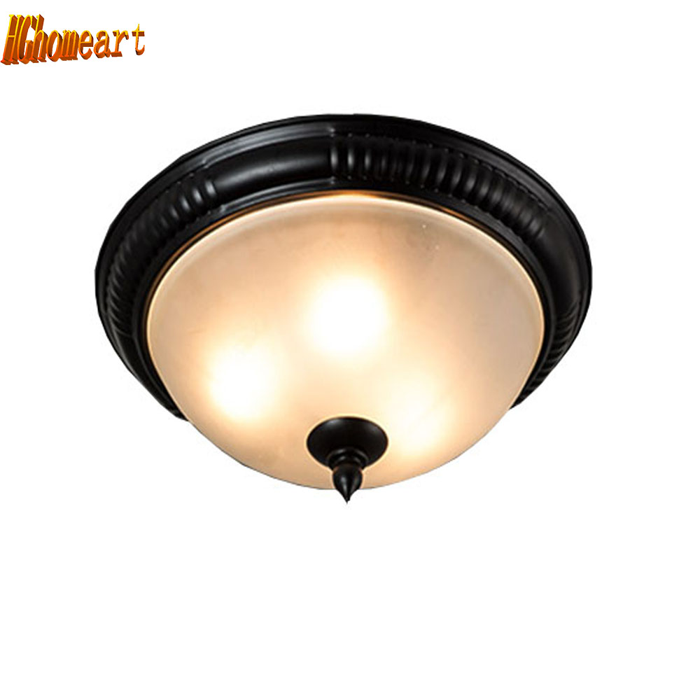 HGhomeart Nordic Vintage flush mount ceiling light Lamp Led Luminaria Flush Mount Ceiling Lights 110-220V E27 Ceiling Fixture мачете 2 сталь 65х13