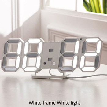3D LED Wall Clock Modern Design Digital Table Clock Alarm Nightlight Saat reloj de pared Watch For Home Living Room Decoration 10