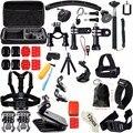 Аксессуары Комплект для Gopro Hero 5 SJCAM Мешок Грудь Глава Крепление ремень Поплавок H9R Штатив для Go Pro SJ4000 Спорт Действий Камеры 30
