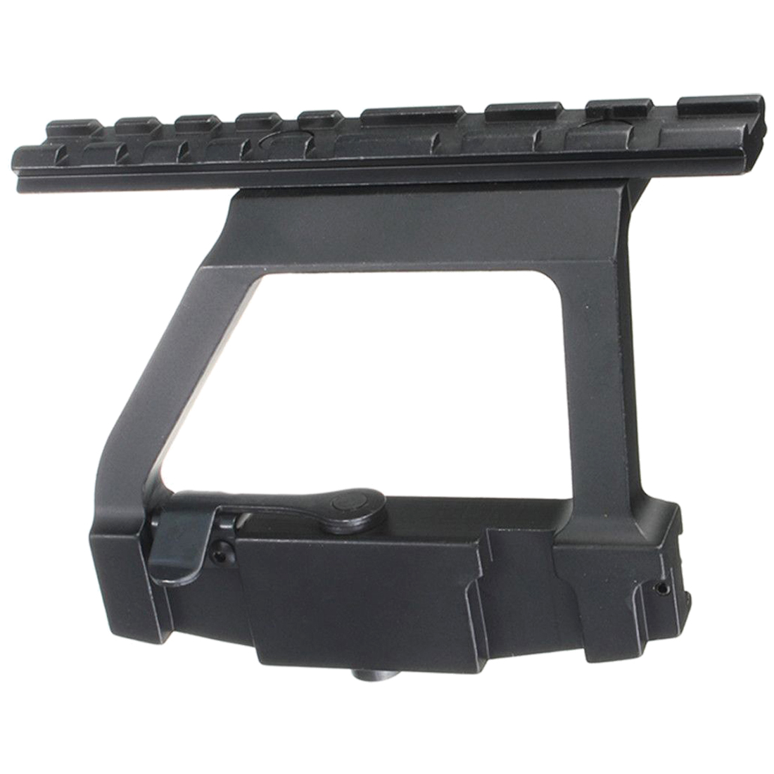 Aluminum 20mm Tactical Scope Sight Rail Mount Bracket Holder Base For Hunting Black