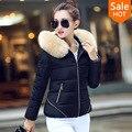 Venta caliente de las mujeres chaqueta corta de invierno clothing casual outwear nueva llegada de las mujeres chaqueta delgada capa de las mujeres femininas negro
