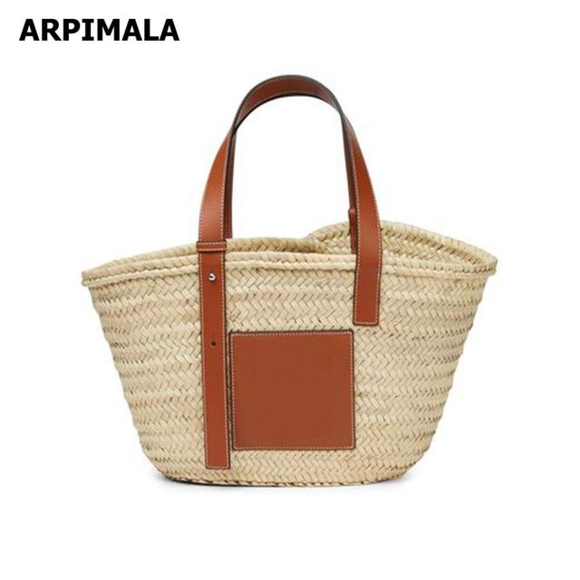 Arpimala 2018 Luxury Designer Raffia Bag High Quality Famous Brand Straw Bags Women Summer Beach Handbag