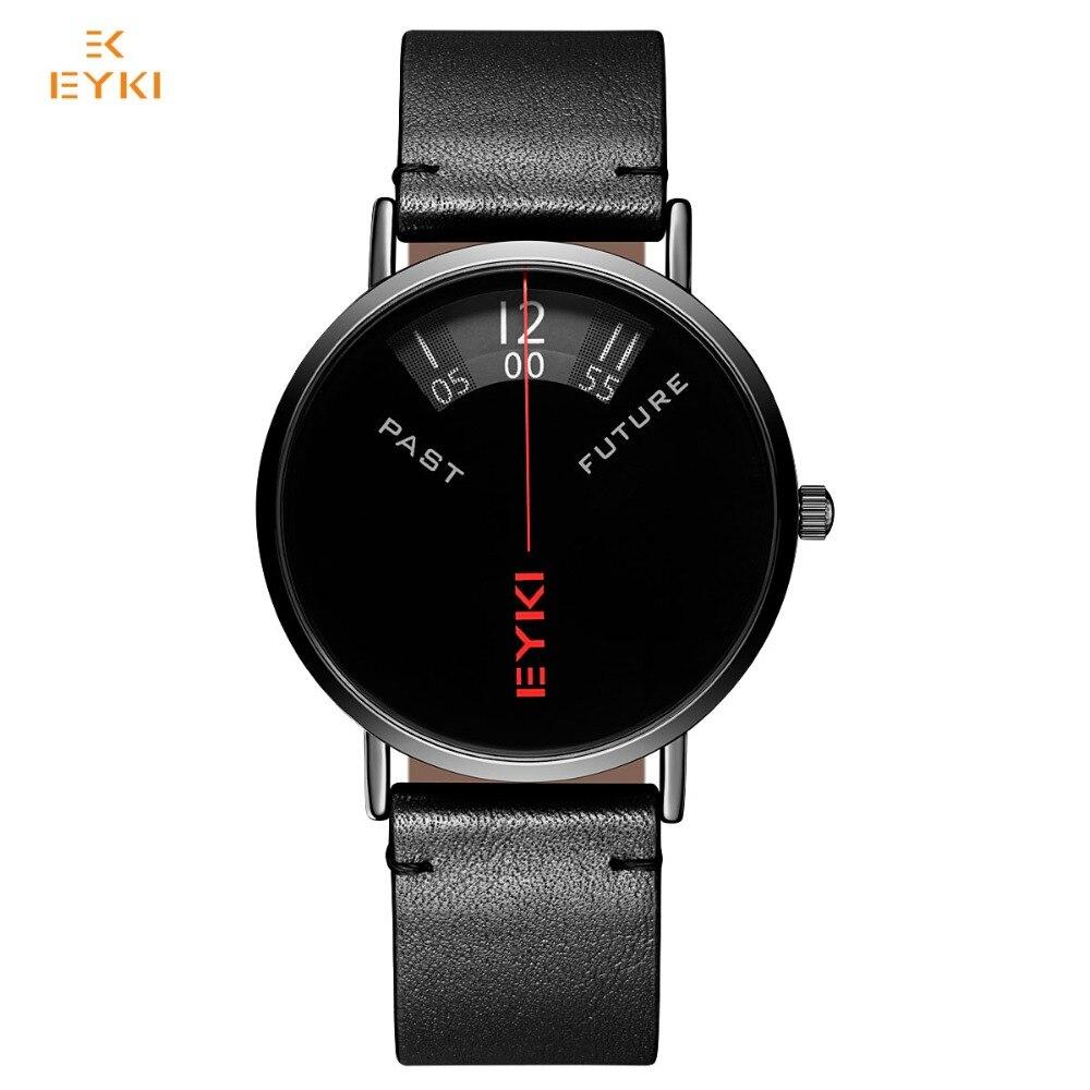 EYKI prekės ženklo vyriški kariniai sportiniai laikrodžiai vyrams natūralūs odiniai laikrodžiai vandeniui valandų data kvarco laikrodžių laikrodis su dėžute