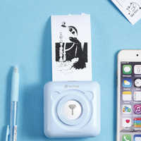 A6 Stampante Fotografica Portatile Mini Mobile Etichetta Adesiva Termica Stampante di Ricevute Compatibile con Android iOS 58 millimetri Stampante di Tasca