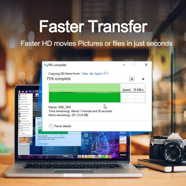 Rocketek usb 3.0 multi Smart memory card reader OTG type c adapter mini cardreader for micro SD/TF microsd computer Laptop 5