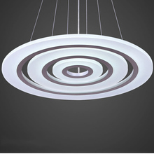 LED acrylic chandelier, stylish new restaurant / Hall / bedroom chandelier, three rings sales,Default silver send