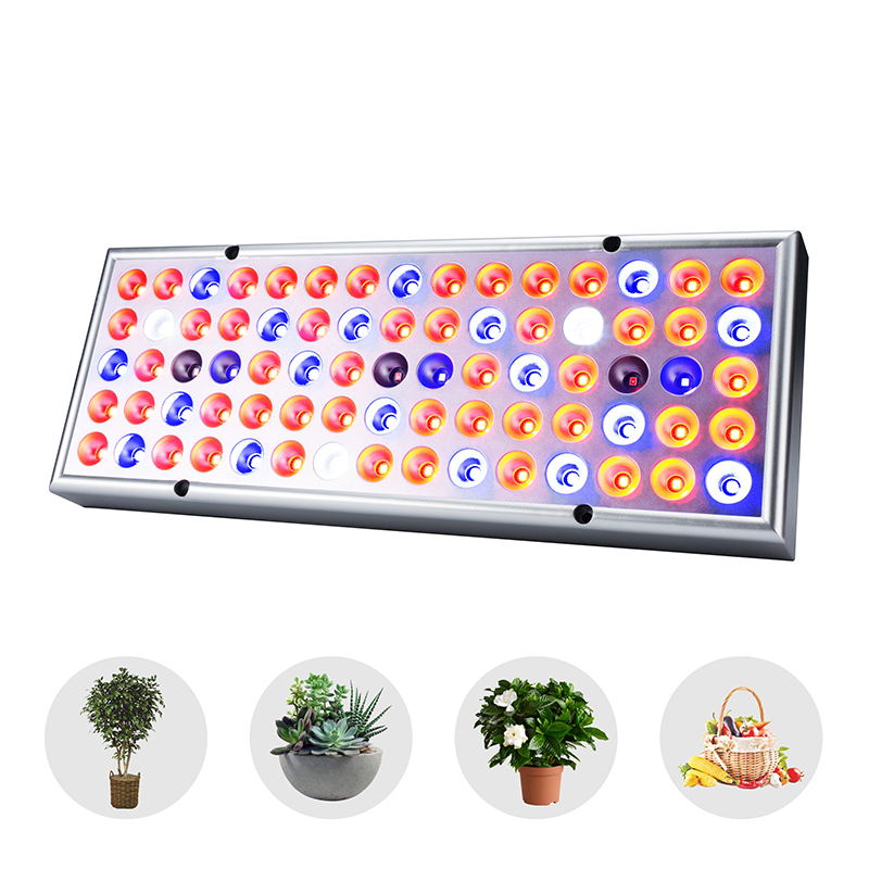 LED Grow Light Full Spectrum 25W 85-265V Plant Growth Lighting 75leds UV IR Panel Lamps For Greenhouse Plants Indoor Growth