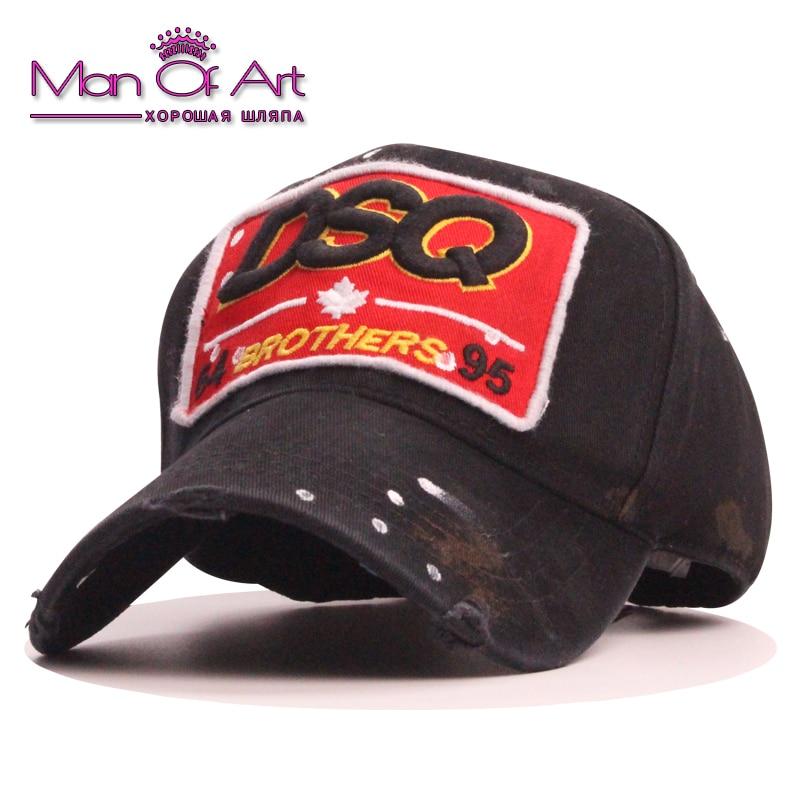 Merk DSQ Baseballcap heren Casquite hoed Czapki Letters Patch Dad - Kledingaccessoires