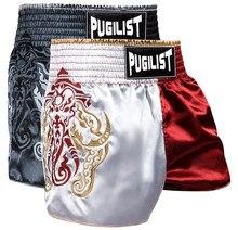 Shorts de luta pugilist mma, calções curtos de muay thai para combate, vermelho/preto, 28, 30, 32, 34, 36 homens botões