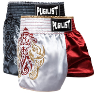 PUGILISTA MMA MUAY THAI FIGHT SHORTS Muay Thai shorts rojo/negro 28 30 32 34 36 hombre bottoms