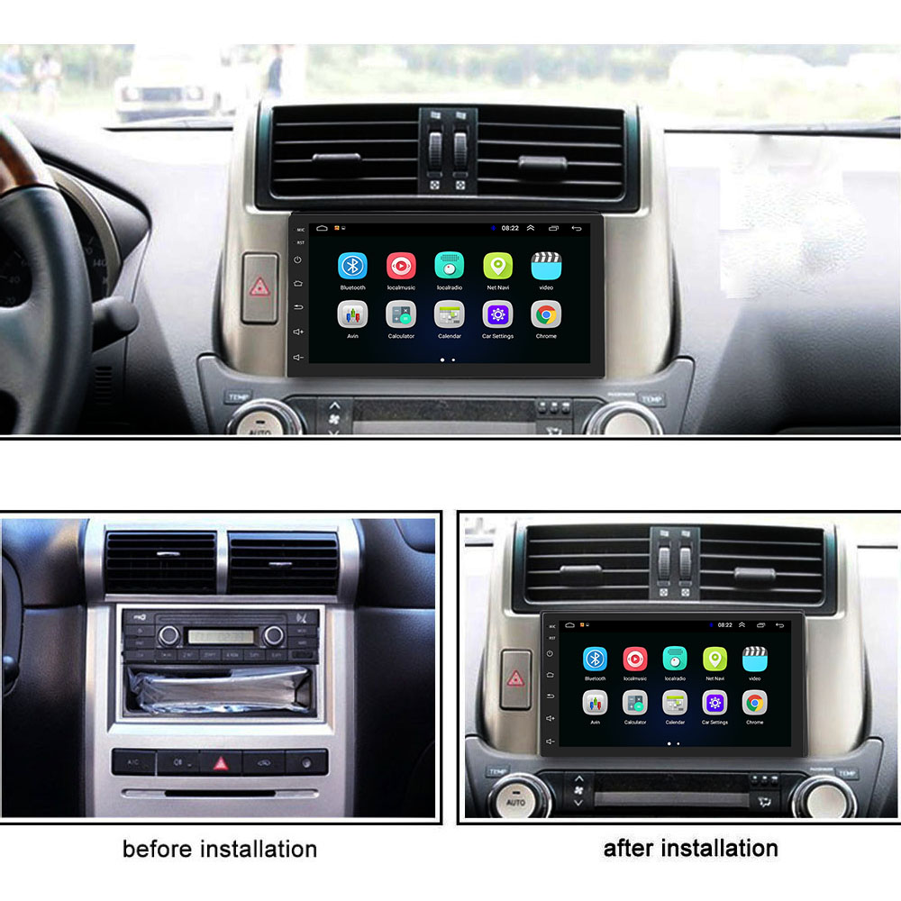 Image 2 - Podofo 2 Din Car Radio Android Universal GPS Navigation Bluetooth Touchscreen Wifi Car Audio Stereo FM USB Car Multimedia MP5-in Car Radios from Automobiles & Motorcycles