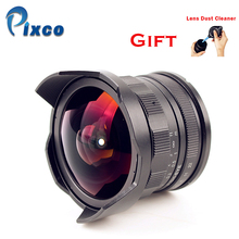 APS C CL Mil7528N 7.5mm F2.8 Fish eye Wide Angle Lens suit for Fujifilm FX NEX Micro 4/3 E.OS M +with Lens Dust Cleaner