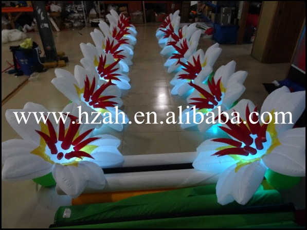 7m Lighting Inflatable Flower Marriage Decoration