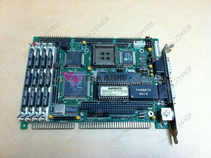 Motherboard ASC386SX Long CPU Card Industrial Motherboard IPC Board 100% tested perfect quality sbc8251 rev c2 industrial board 586 isa half size cpu card tested good working perfect