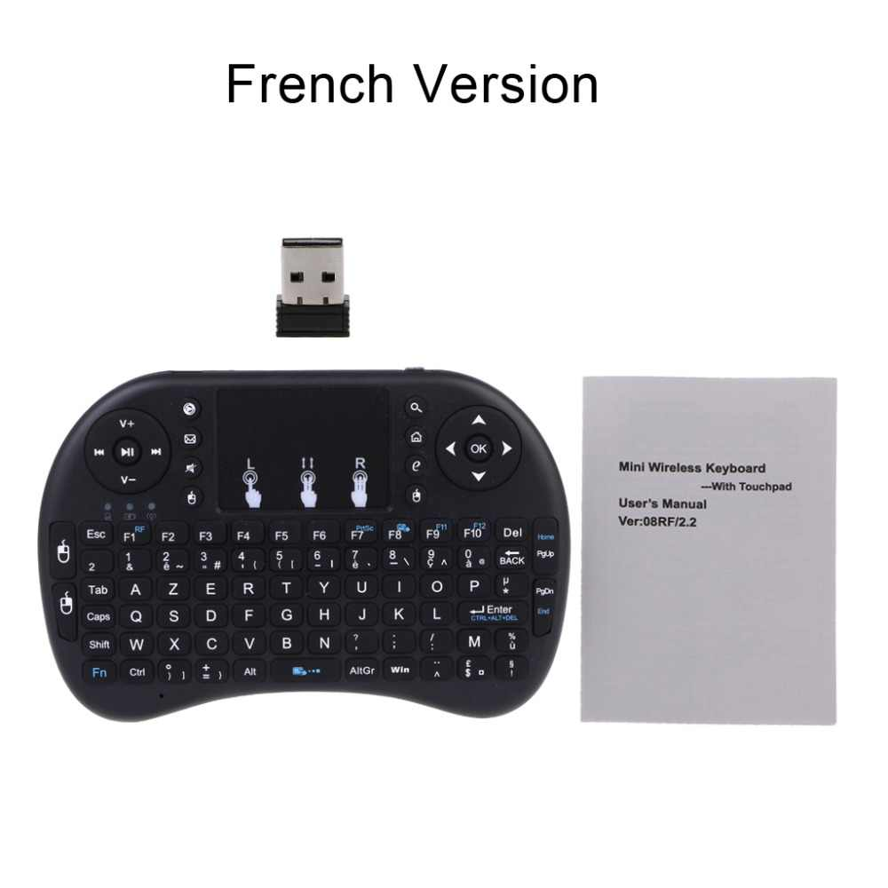 Russo i8 2.4GHz Wireless Keyboard Air Mouse Touchpad per Android TV BOX PC