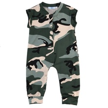 Stylish Newborn Kids Baby Girl Boys Kids Camouflage Vest Romper Playsuit Clothes Outfits 0-3 Years
