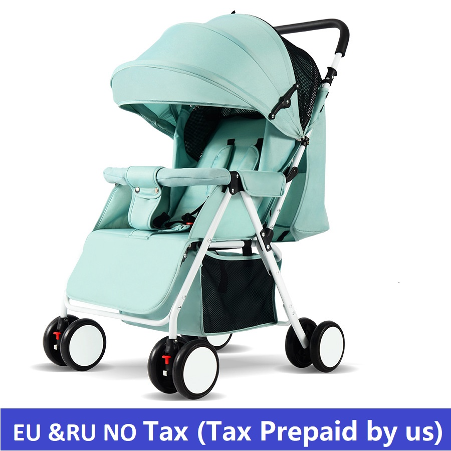 EU RU NO TAX Baby strollers lightweight folding umbrella stroller can sit can lie ultra-light portable baby strollers for dolls lightweight strollers aiqi ultra light white frame good quality baby stroller baby umbrellacar boarding stroller accessories