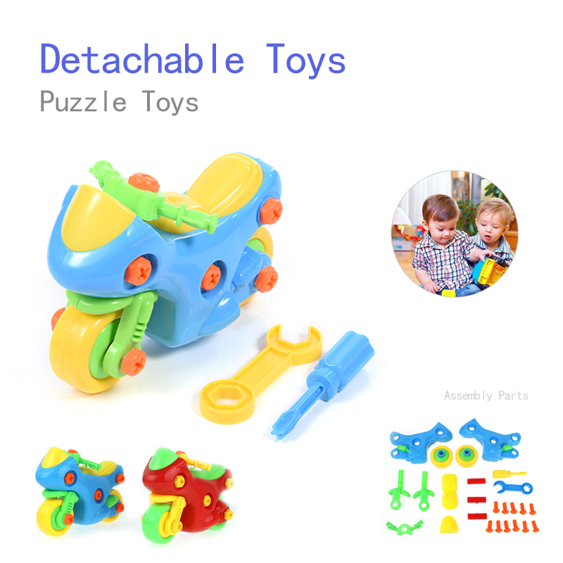 Hot sale DIY Creative Disassembly Motorcycle Toy Children Assembled Model Educational Toys Color Random Model Building Kits