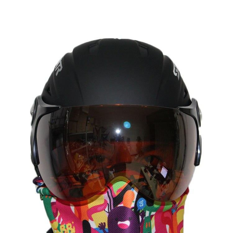 ski helmet +ski goggles ABS CE certificate adult ski open face helmet skate skiing helmets snowboard sport head protection 010408 brand new ski helmet men women children snowboard helmet pc eps ultralight high quality skating skateboard skiing helmet