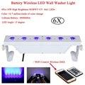 6 шт./лот 6x18 Вт RGBAW UV 6в1 с питанием от аккумулятора беспроводной DMX512 светодиодный настенный светильник для светодиодной вечеринки Бар Диско Dj...