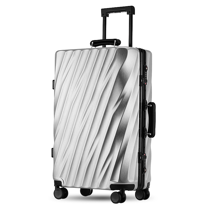 Travel Luggage Spinner Wheels Airplane Suitcase Aluminum Frame Alloy Rolling Business Trolley Luggage 20 24 Inch