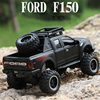 Kidami 1:32 ford raptor f150 alloy diecast car model toys sound light toy pickup truck pull back vehicle for children
