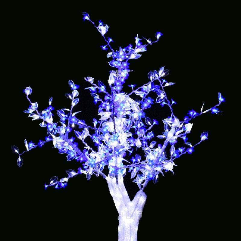 1.5 M 5FT LED Noel Yeni yıl Işık Kristal Kiraz Çiçeği Ağacı - Şenlikli Aydınlatma - Fotoğraf 2