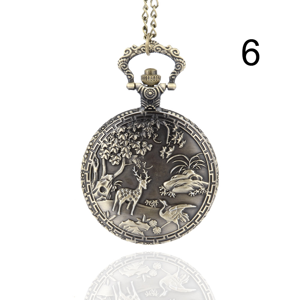 Fashion Unisex Pocket Watch Alloy Openable Carving Vintage Quartz Necklace Pendant Chain Clock Men Women Birthday Gifts chinese zodiac bronze pig quartz pocket watch necklace pendant carving back for women men gifts lxh