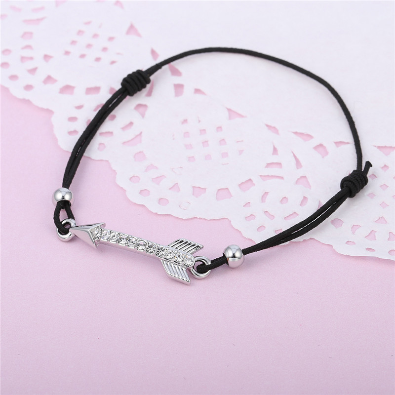 Gold Silver Arrows Crystal Bracelet for Women Elastic Rope Chain AAA+Cubic Zircon Environmental pulsera Dropshipping 2018 new 18