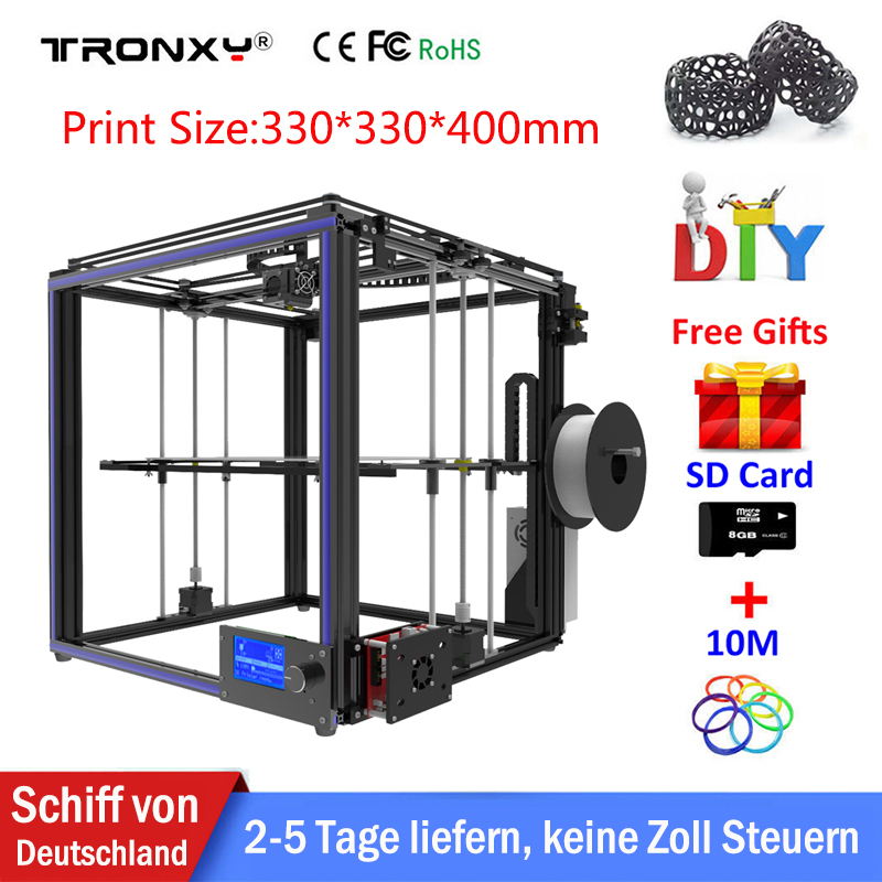 Tronxy X5S 3D Printer High precision Large Printing Area 330*330*400mm extruder 3D Printer kit DIY CoreXY System with Heated Bed tronxy x3s 330 x 330 x 420mm fast installation 3d printer