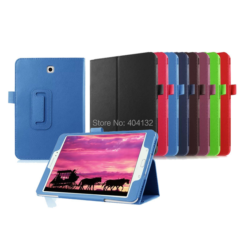 30PCS Lot Good Quality Stand PU Leather Case For Samsung Galaxy Tab S2 8 0 Cover